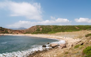 La spiaggia a ferro di cavallo.