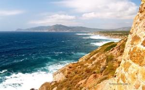 La vista sul Golfo di Porto Ferro e Capo dell'Argentiera.