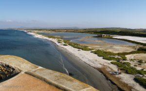 Vista delle saline e del litorale sud fino a Porto Torres.