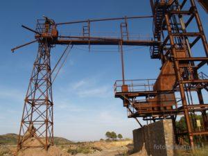 La bellissima struttura metallica del Pozzo Faina, cantieri di Levante.