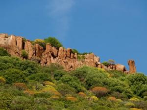 Le particolari conformazioni rocciose del complesso di Badde Jana.